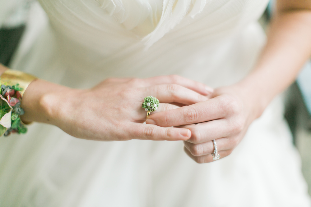 Flower Ring, Floral Jewelry, Floral Cuff, Emily Wren Photography