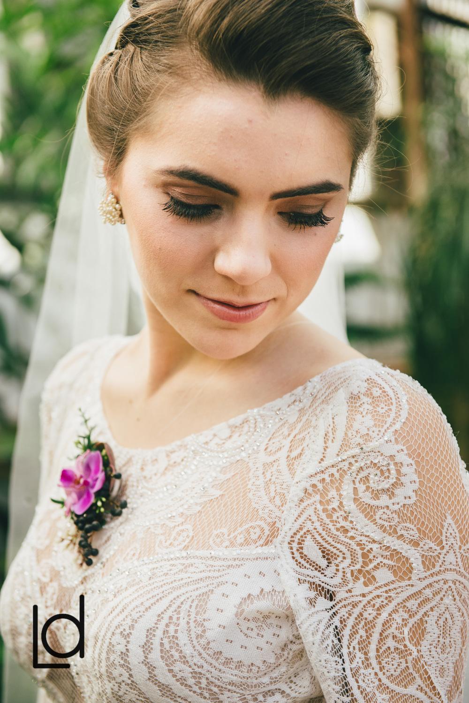 Philadelphia Wedding, Horticulture Center Wedding, Floral Jewelry, Bride Necklace, Fall Wedding, Lauren Driscoll Photography