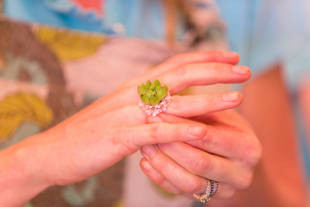 Flower Jewelry, Floral Ring, Flowers, Tami & Ryan Photography