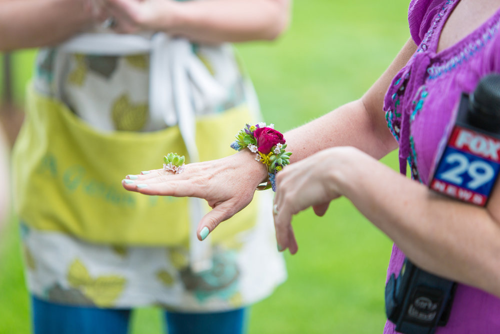NJ Florist, Wedding Jewelry, Floral Cuff, Floral Ring, Rehearsal Dinner, Tami & Ryan Photography