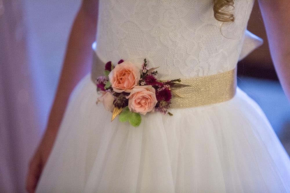 Delaware Wedding, Brantwyn Estate, Fall Bride, Flower Girl Sash, Tami & Ryan Photography