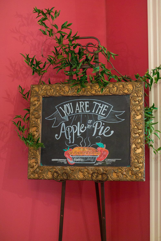 A Garden Party Florist, Tami & Ryan Photography, Brantwyn Estate, Wilmington, Chalk Art