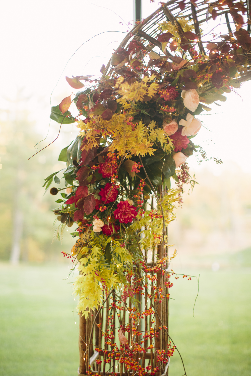 A Garden Party Florist, Jasna Polana, Saltwater Studios Photography, Wild, Arbor, Ceremony Flowers