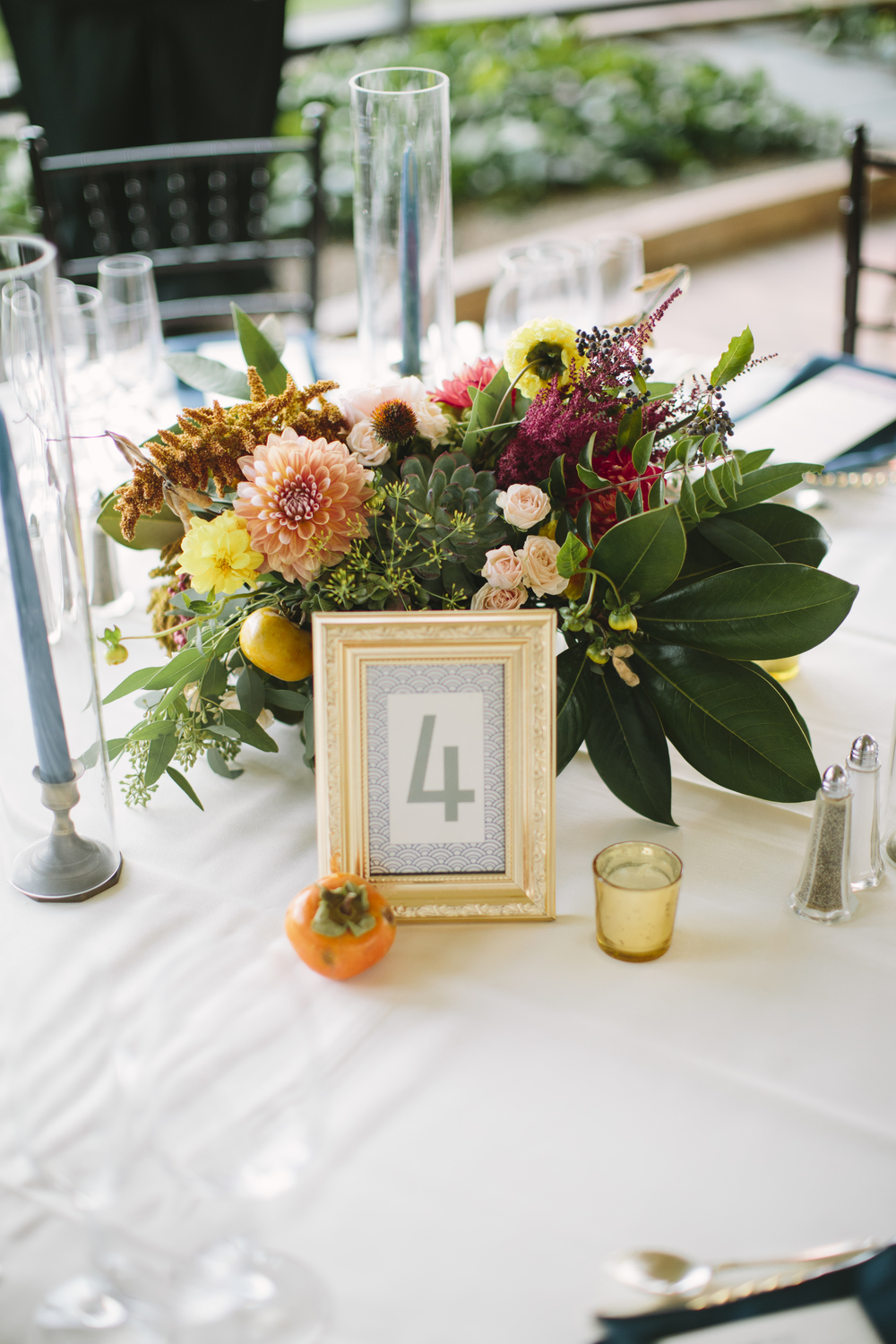 A Garden Party Florist, Jasna Polana, Saltwater Studios Photography, Wild, Table Decor, Persimmons