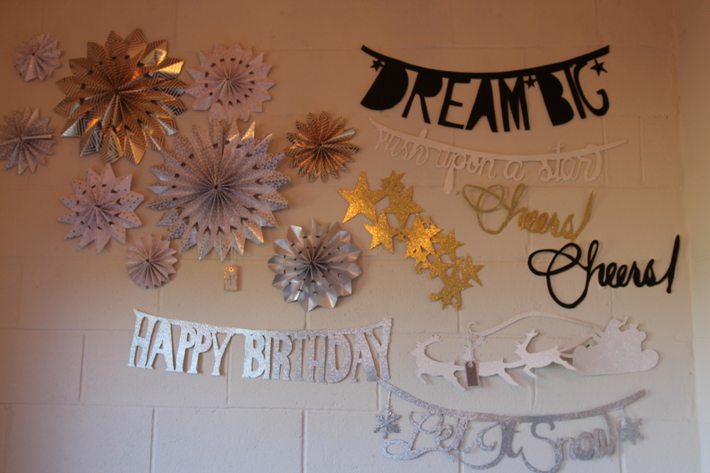 Cristina also sold these pretty paper banners, and is available for custom requests - just e-mail her at info@agardenpartyllc.com!
