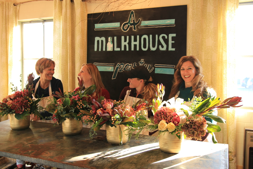 A Garden Party Florist, A Milkhouse Party, Floral Design Workshop