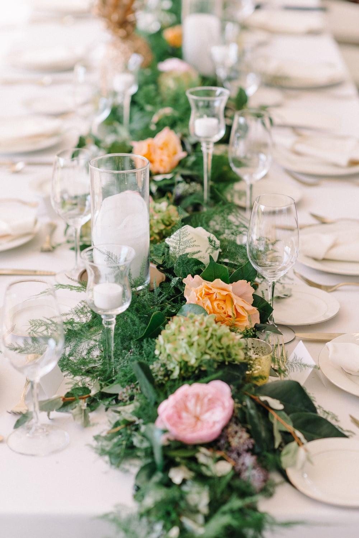 A Garden Party Florist, Inn at Fernbrook Farms, Michelle Lange Photography, Blush, Table Decor, Garland