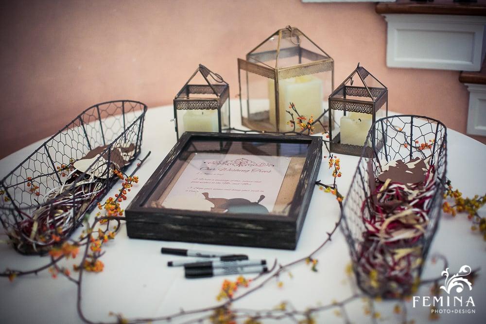 A Garden Party Florist, Brantwyn Estate, Wilmington, Fall Wedding, Femina Photo & Design, Wishing Tree