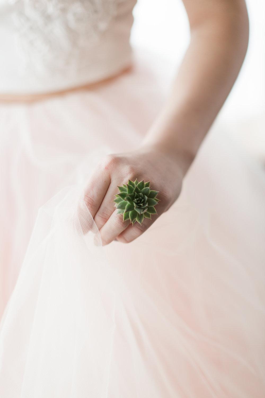 Flower Jewelry, Floral Ring, Floral Cuff, Succulent Ring, NJ Wedding, Philadelphia Wedding, Rachel Pearlman Photography