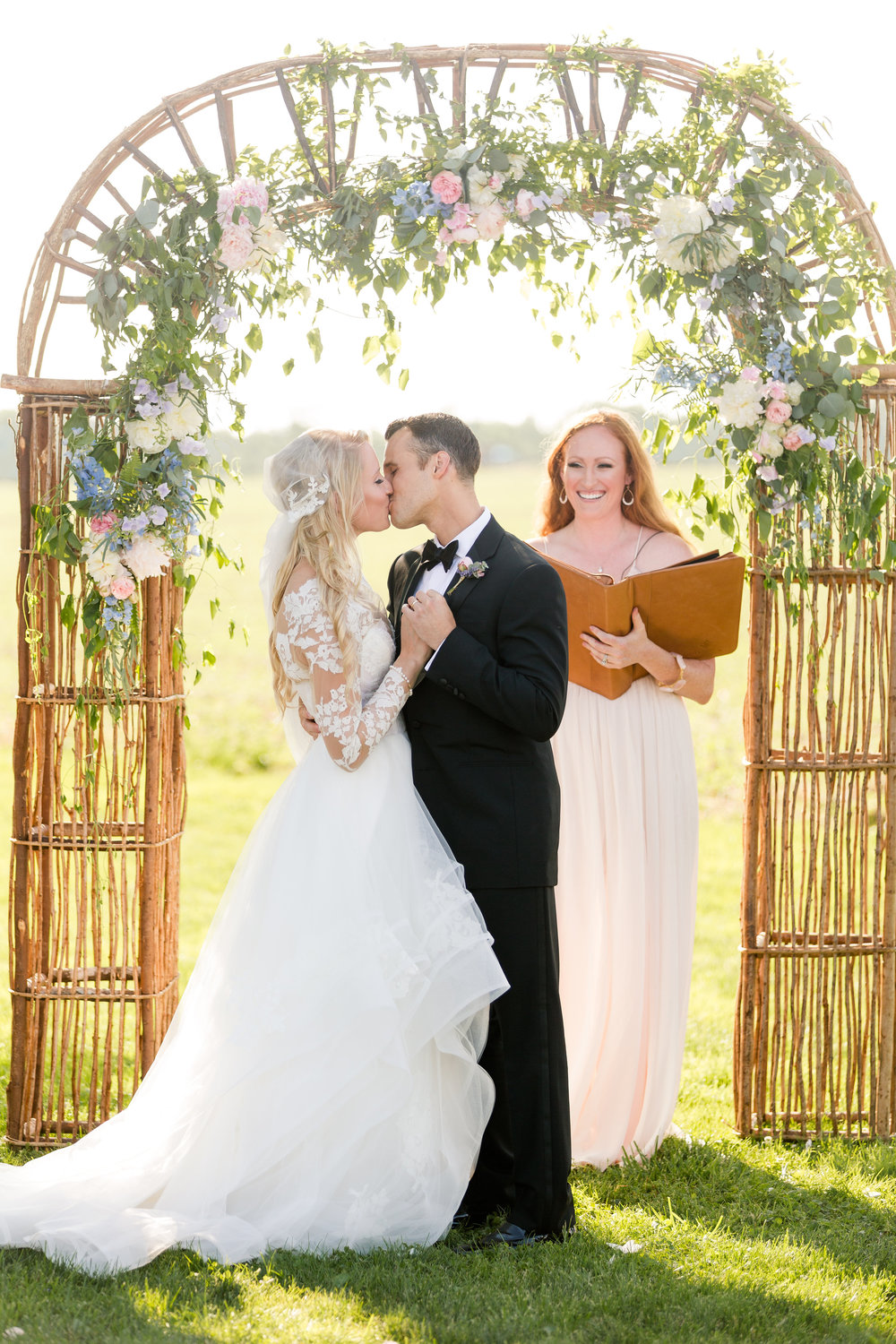 NJ Wedding, Private Residence, Ceremony Arch, Aisle Decor, A Garden Party