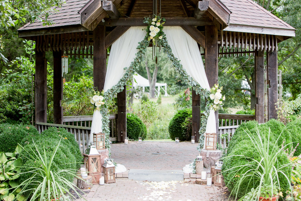Pratt Garden Wedding, NJ Wedding, Aisle Decor, Ceremony, Greenery Wedding