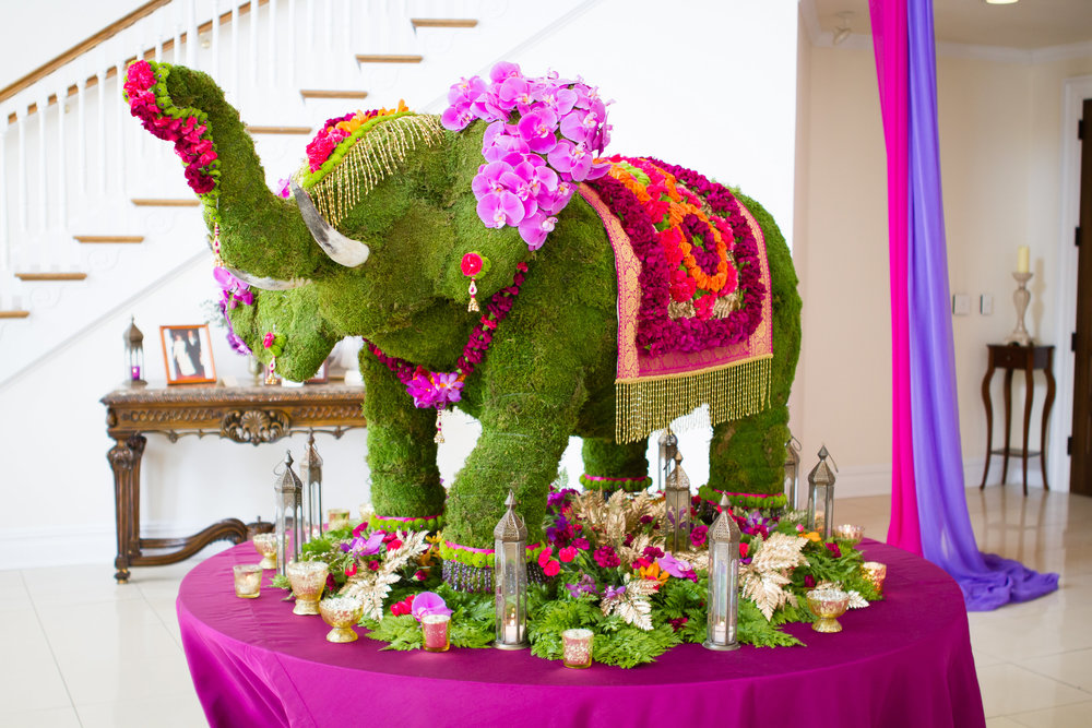 NJ Wedding, Seating Chart, Seating Assignments, Wedding Inspo, A Garden Party, Indian Wedding, Elephant, Flower Elephant