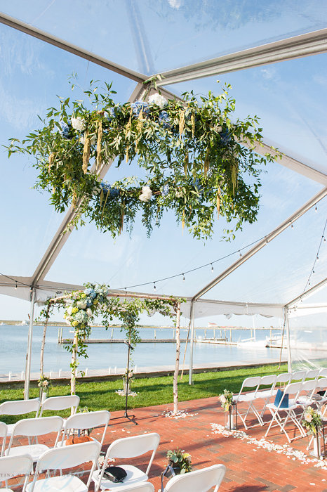Cape May Wedding, Corinthian Yacht Club Wedding, Hanging Decor, Summer Wedding, Beach Wedding, Tina Markoe Photography