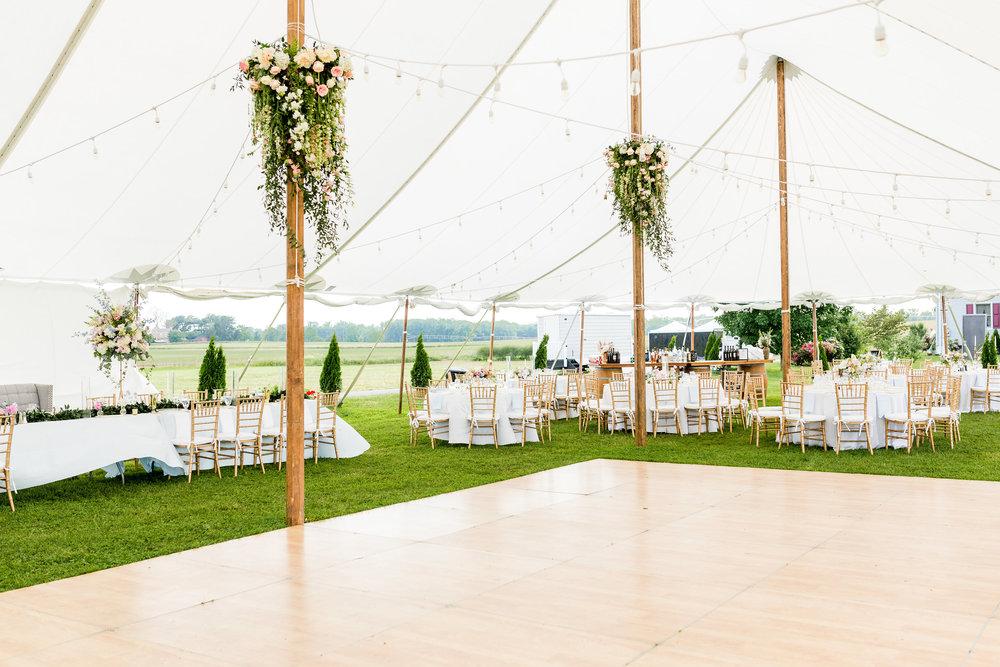 NJ Wedding, Tent Wedding, Hanging Chandelier, Hanging Decor, Greenery Wedding, Blush Wedding, A Garden Party