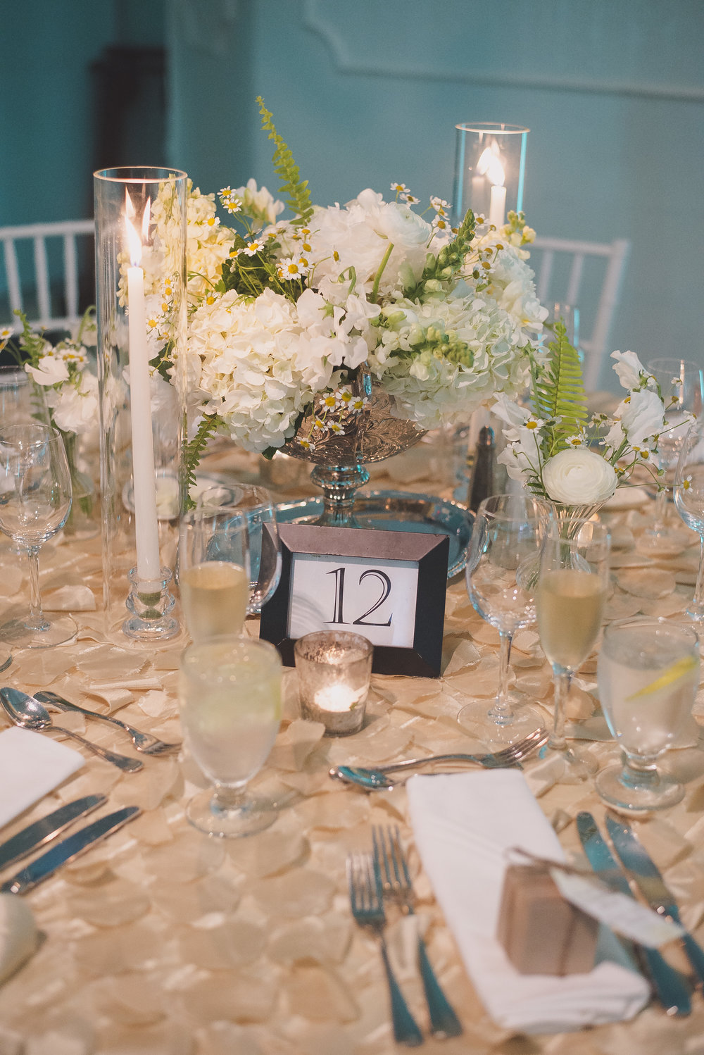 Cape May Wedding, Congress Hall, White and Green, White Flowers, Centerpiece, Melissa Fogg Photography