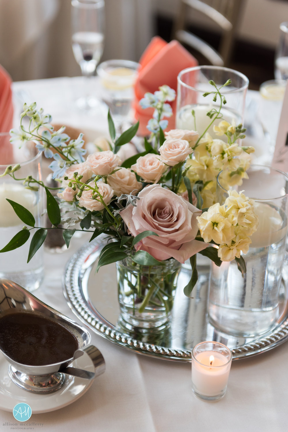 NJ Wedding, Private Wedding, Backyard Wedding, Tent Reception, Centerpiece, Muted Flowers, Karmapants Photography6