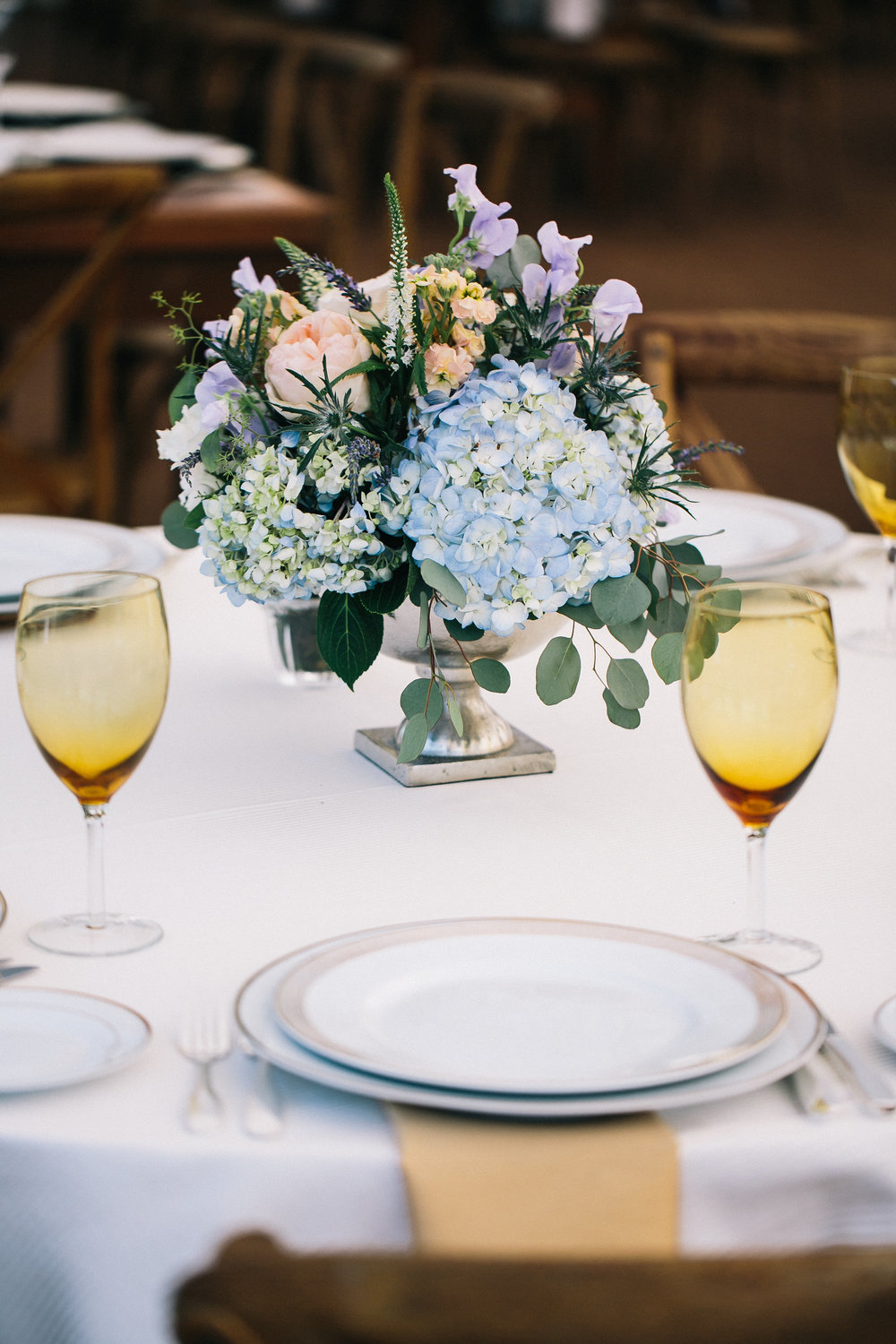 NJ Wedding, Private Wedding, Backyard Wedding, Tent Reception, Centerpiece, Muted Flowers, Karmapants Photography