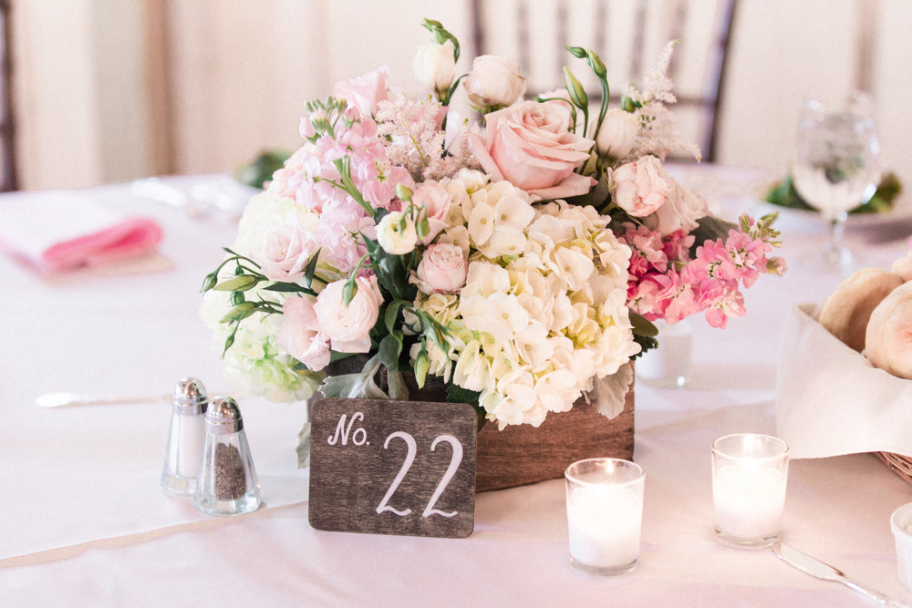 NJ Wedding, Blush Flowers, White and Pink Centerpiece, Low Centerpiece, Hamiliton Manor, Jessica Hendrix Photography