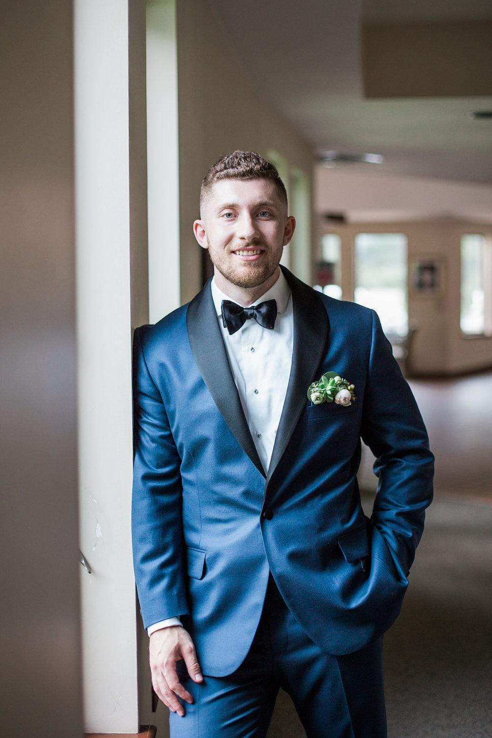 groom formal portrait