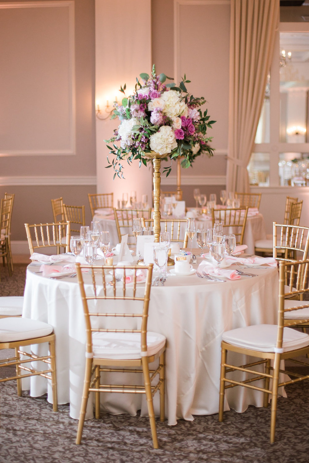tall gold centerpieces