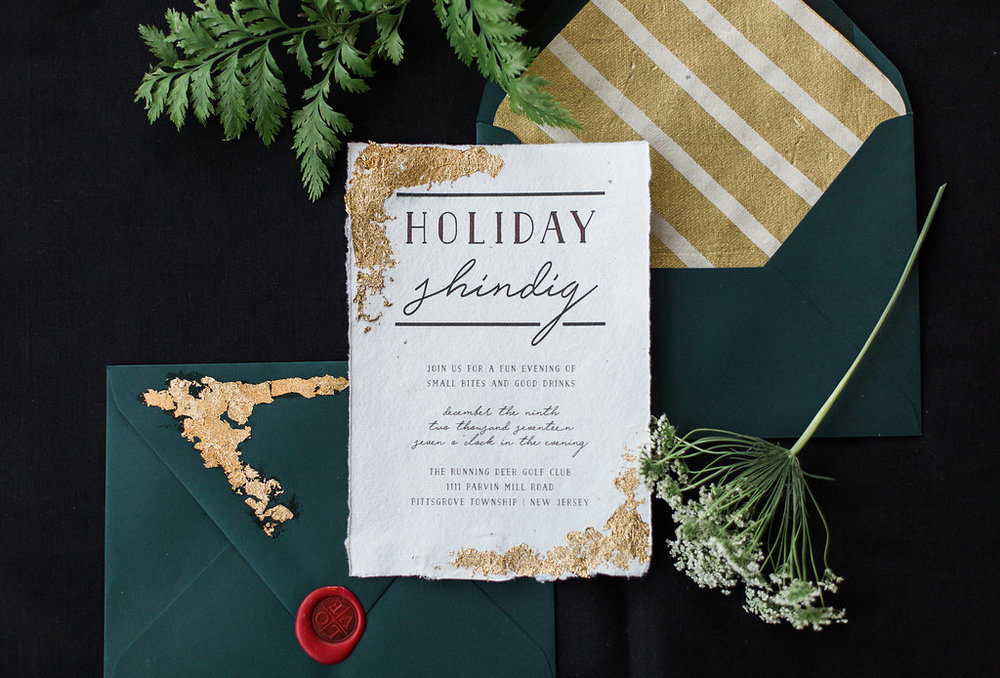 Running Deer holiday party invite