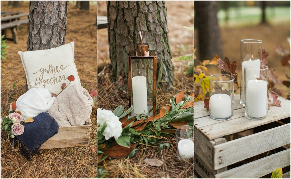Running Deer outdoor wedding ceremony details