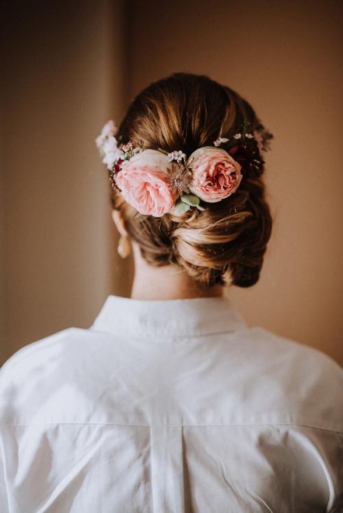 pink flowers - hair flowers