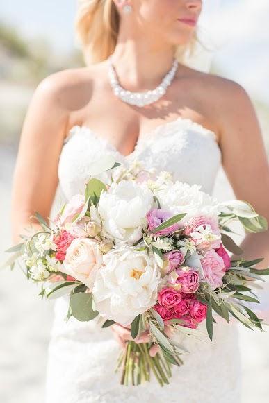 NJ Wedding, Florist, Kaitlin Noel Photography, Pink and Blush Bouquet, Bride