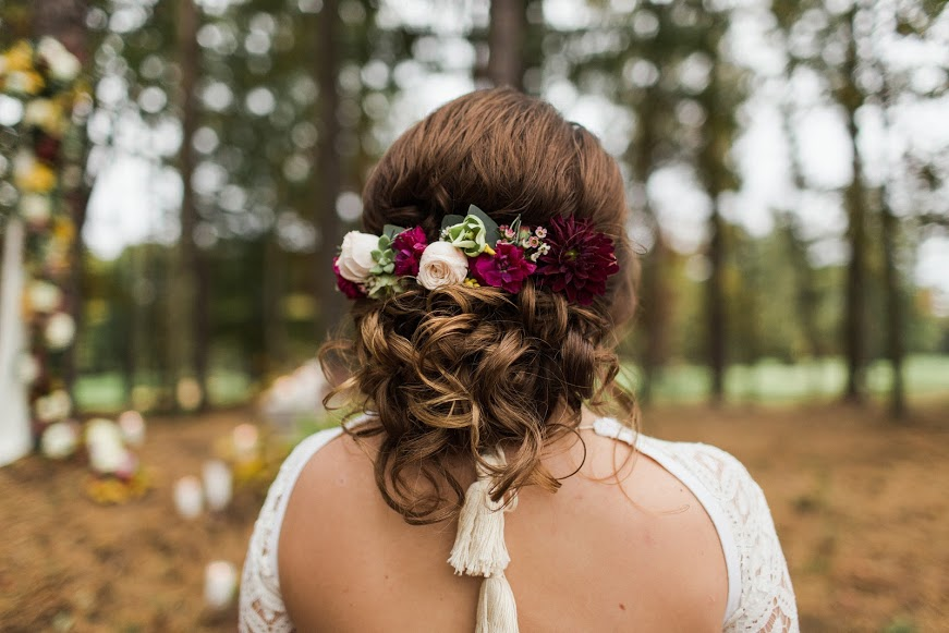 NJ Wedding, Running Deer Golf Club, Hair Flowers, Bridal, Fall Wedding, Samantha Jay Photography