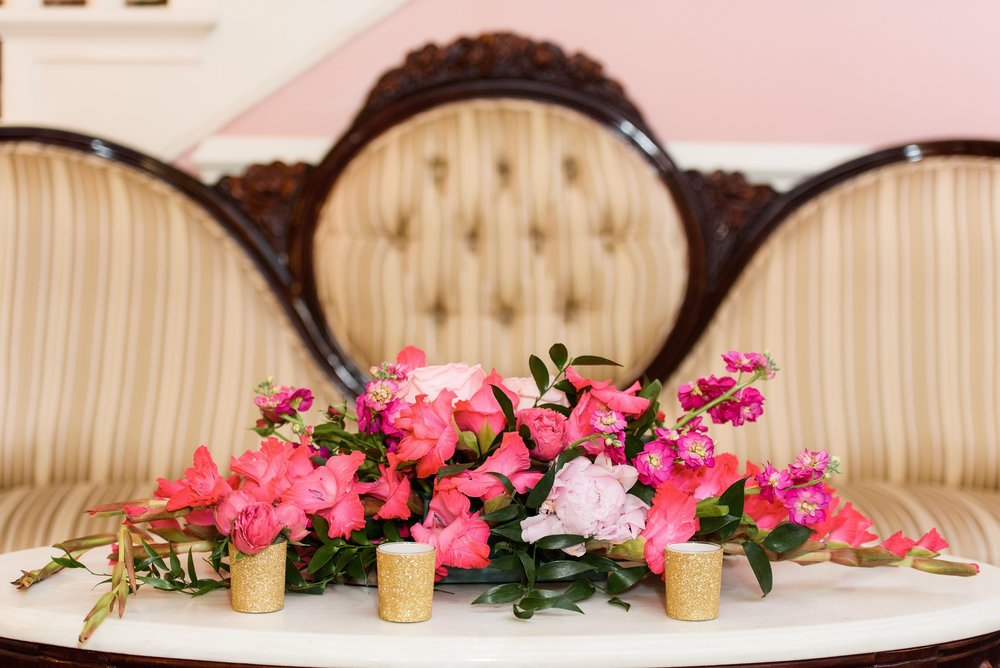 nautical wedding - pink flowers