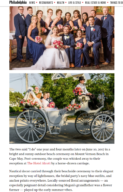 published wedding - philly mag