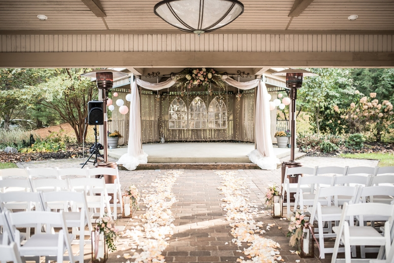 blush wedding ceremony