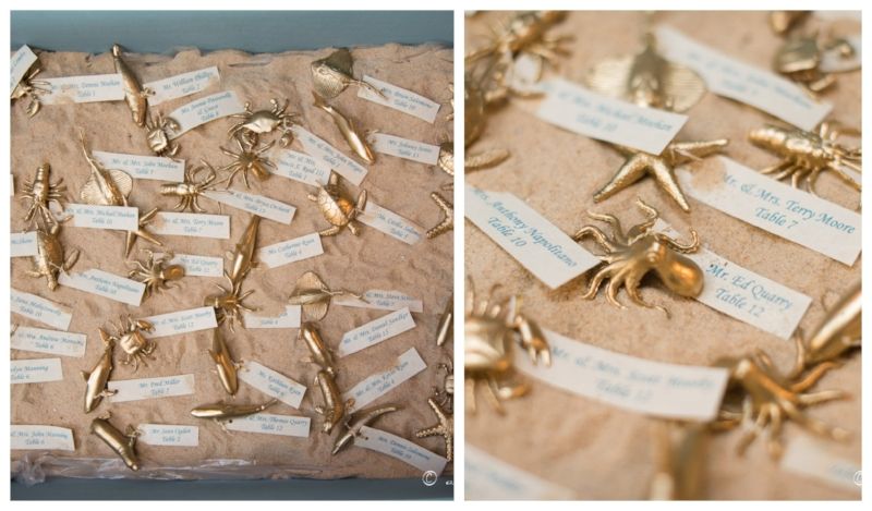 beach wedding - placecards