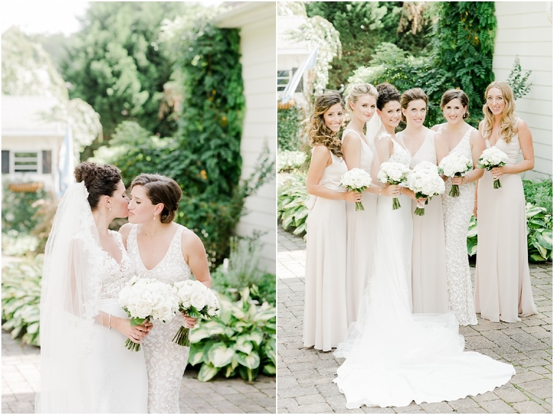 bridal party - white wedding flowers