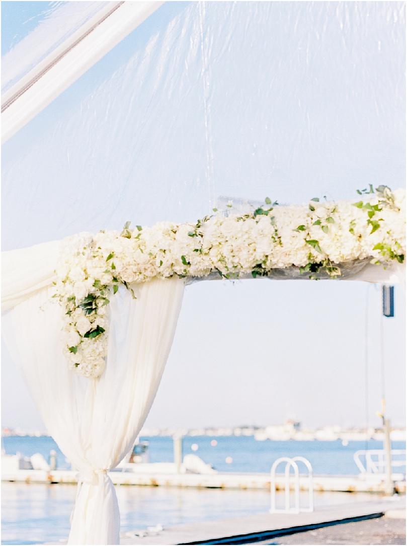 white wedding flowers - beach wedding