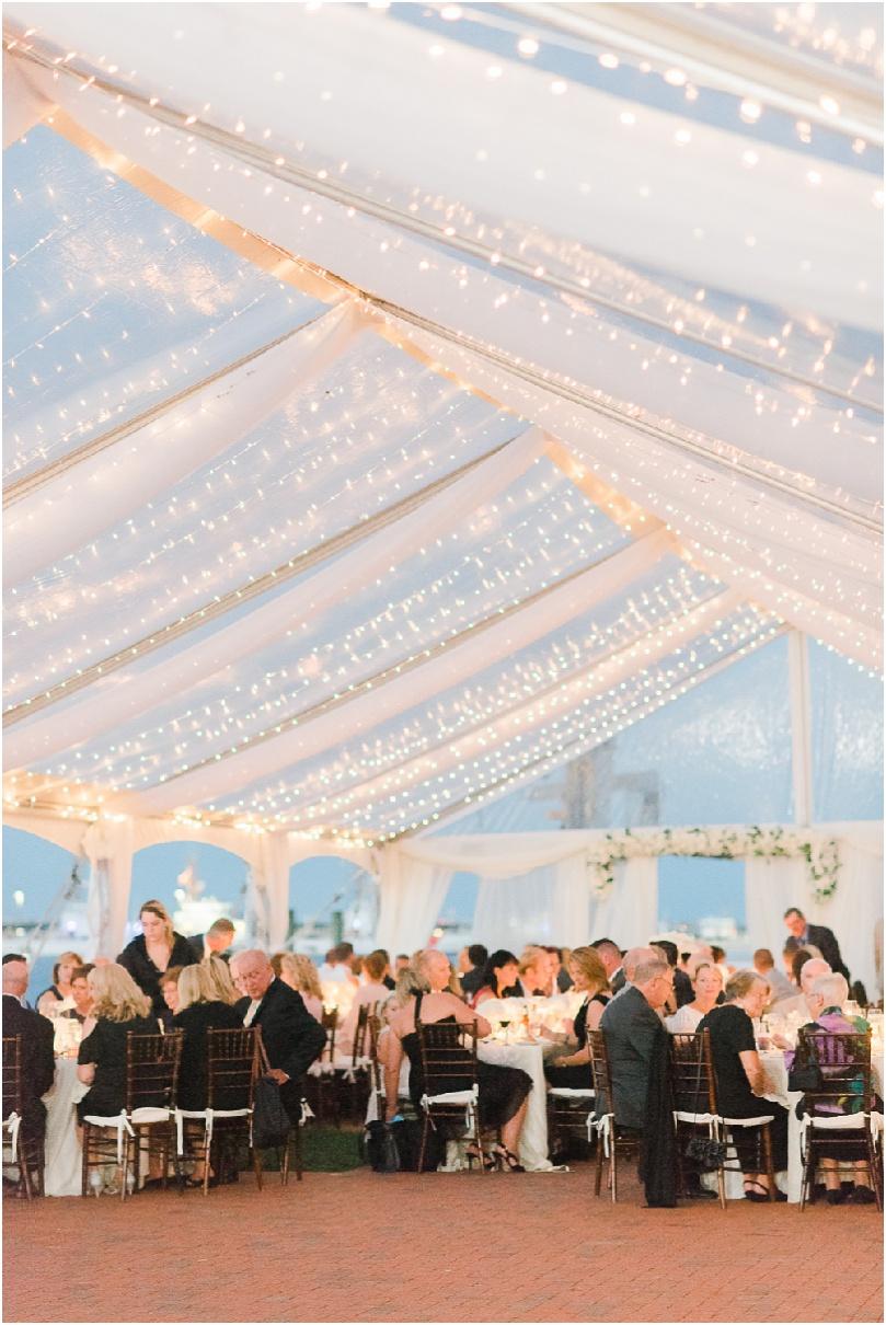 beach wedding - string lights