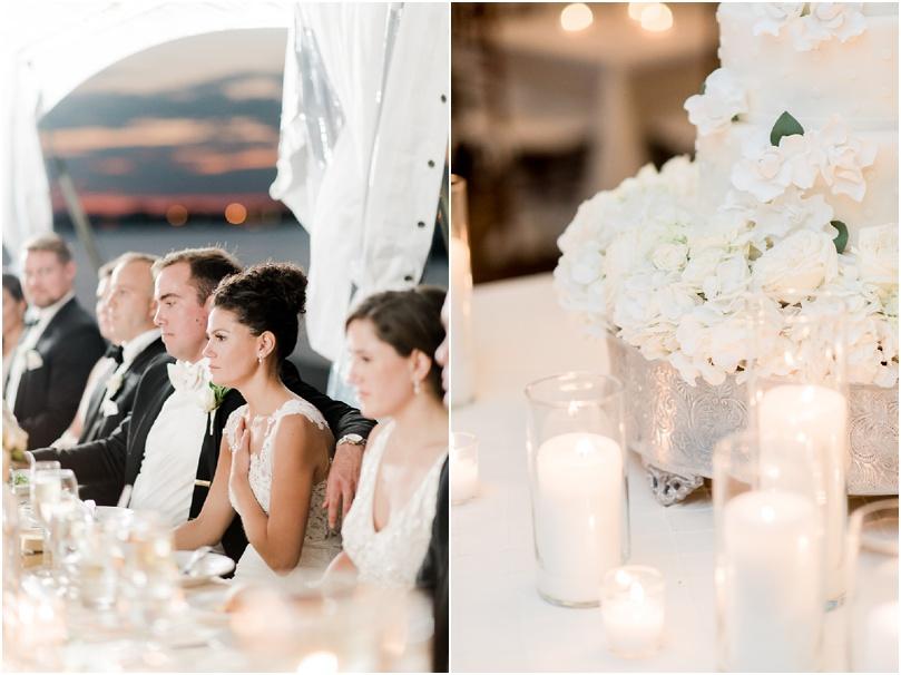 white wedding flowers - cake flowers