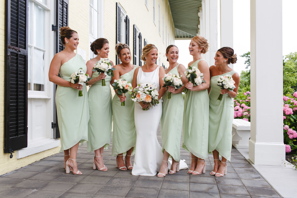 Cape May Congress Hall Wedding, Beach Bouquet, Green and White, Two17 Photography