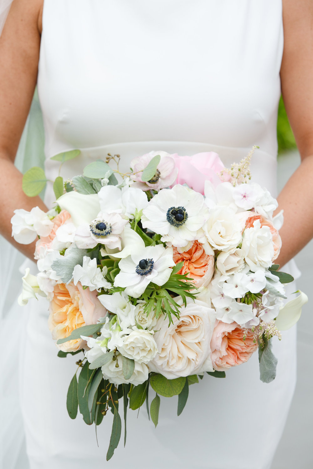 Cape May Wedding, Congress Hall, Blush and Anenome Bouquet, Bridal, Two17Photography