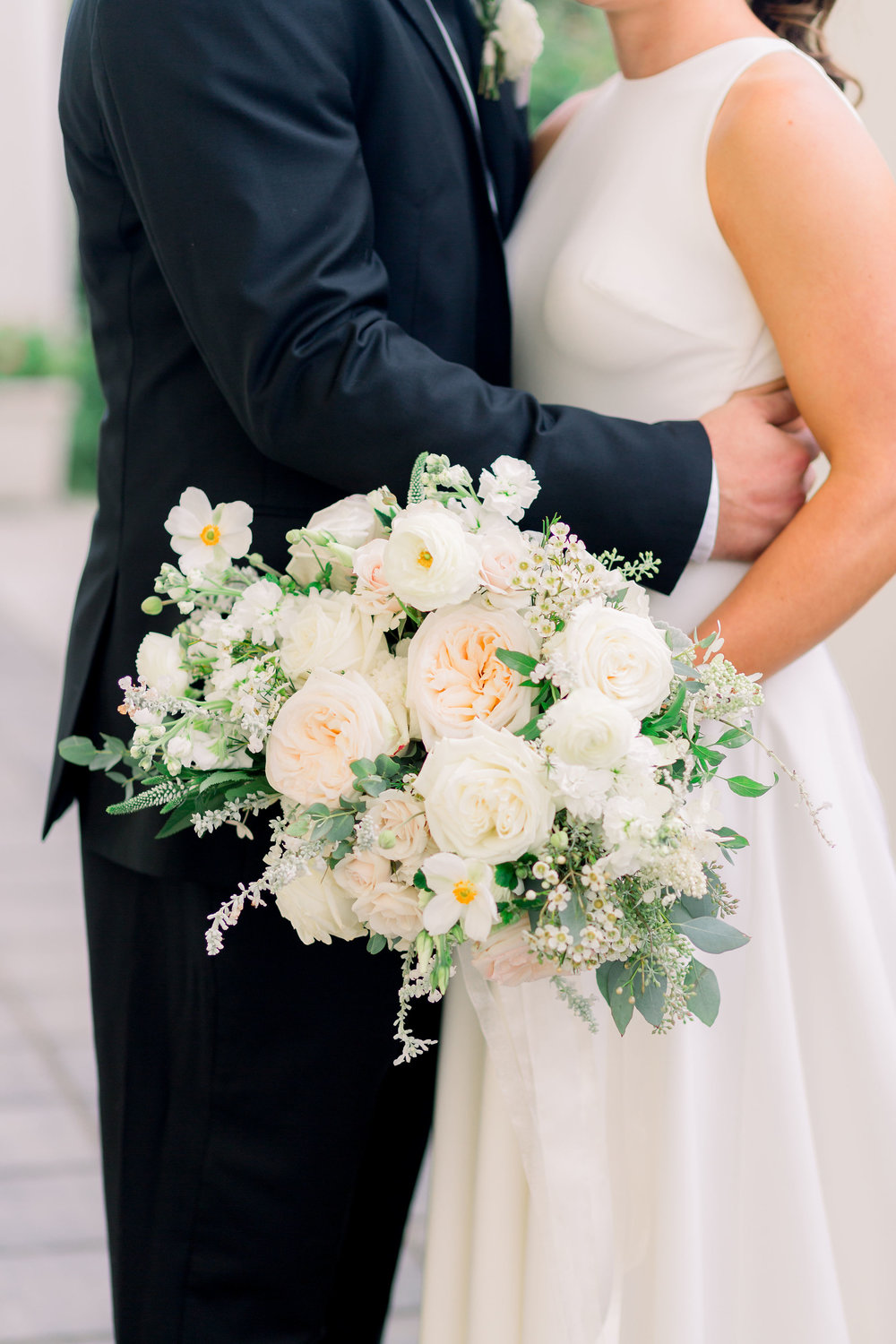 Cape May Congress Hall Wedding, White and Green Bouquet, Grove Photography