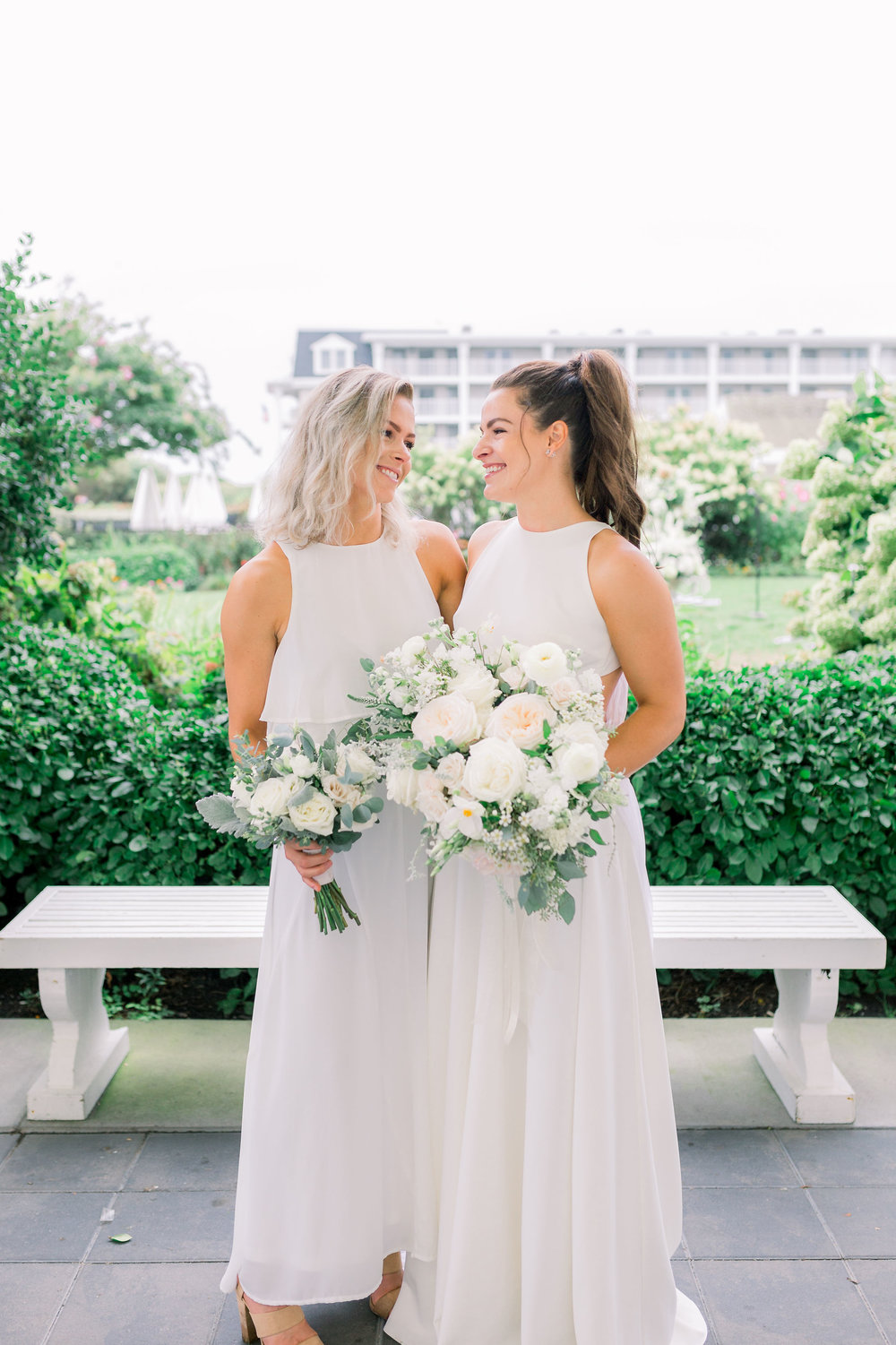 Cape May Congress Hall Wedding, White and Green Bouquet, NJ Bride, Grove Photography
