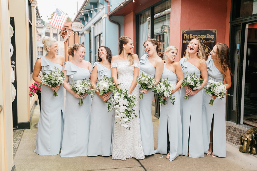 Cape May Willow Creek Winery Wedding, NJ Wedding, Orchid bouquet, white and green, Emily Wren Photography