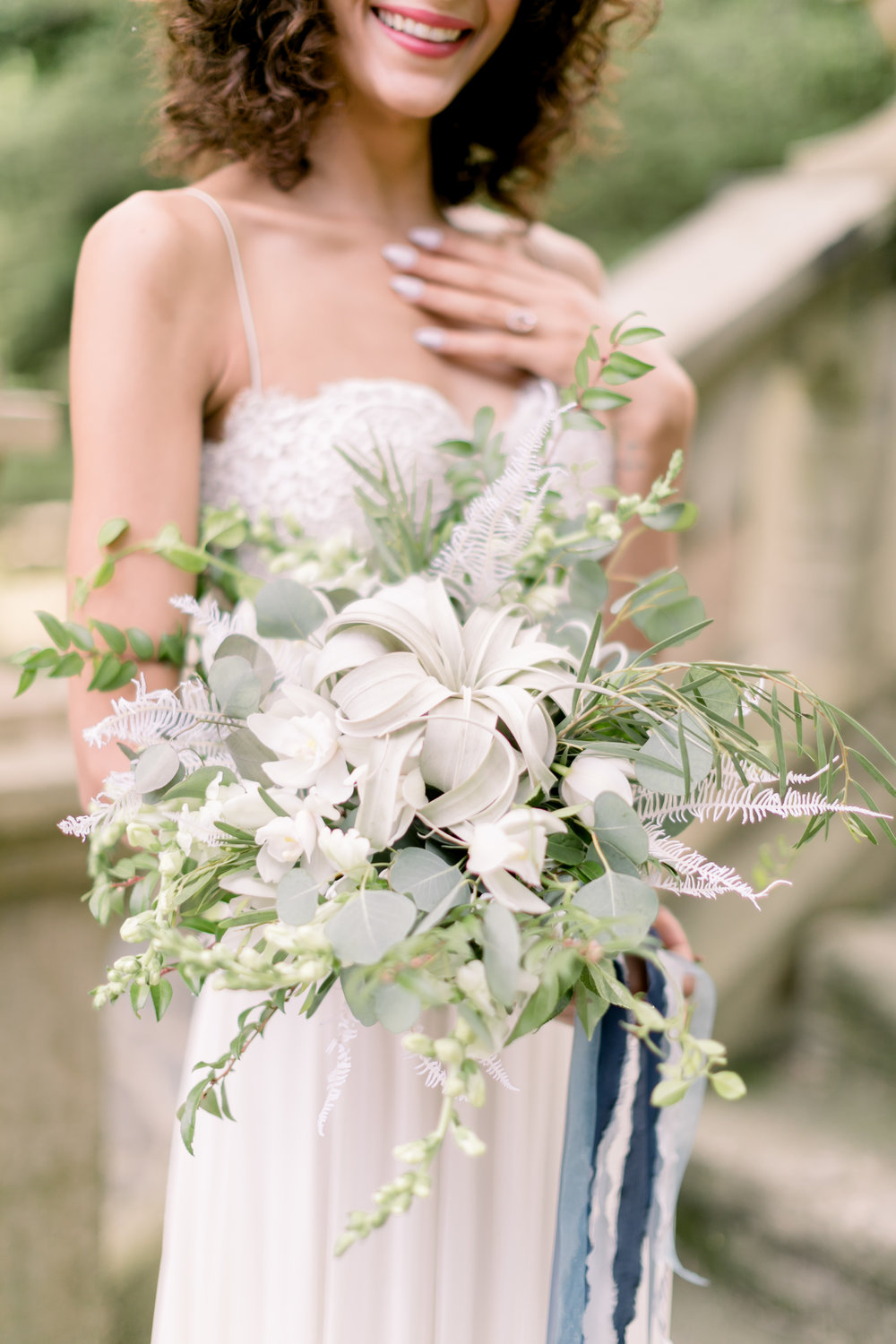 Air plant Bouquet, Greenery Wedding, Parque at Ridley Creek Wedding, PA Wedding, Philly Bride, Emily Wren Photography