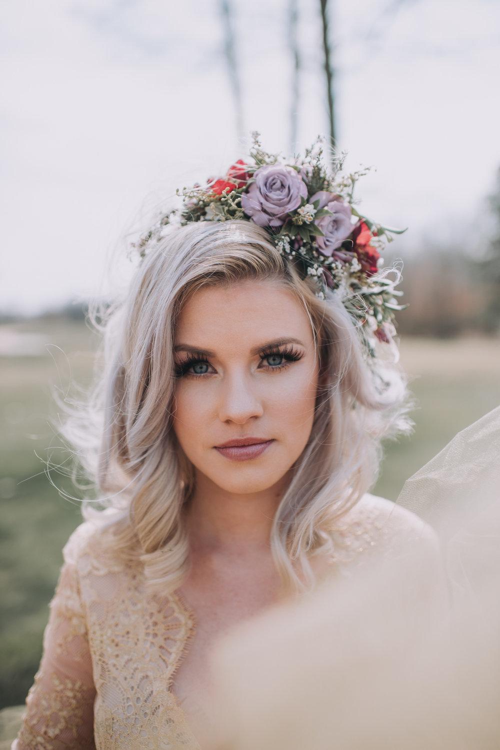 NJ Bride, Running Deer Wedding, Philadelphia Wedding, Flower Crown, Hair Piece, Wedding Makeup, Samantha Jay Photography, Your Day Your Way Hair & Makeup