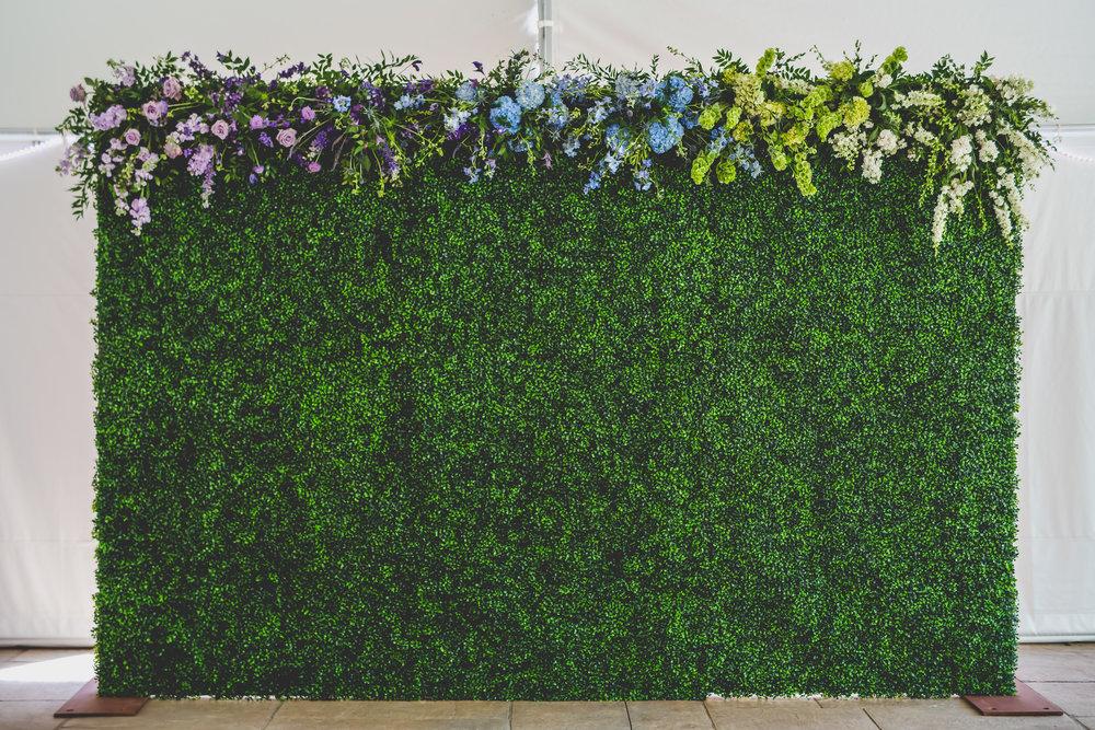 Flower Wall, Ombre Flowers, NJ Florist, NJ Wedding, Bride, Card Box, Cocktail Table, Wedding Decor, A Garden Party
