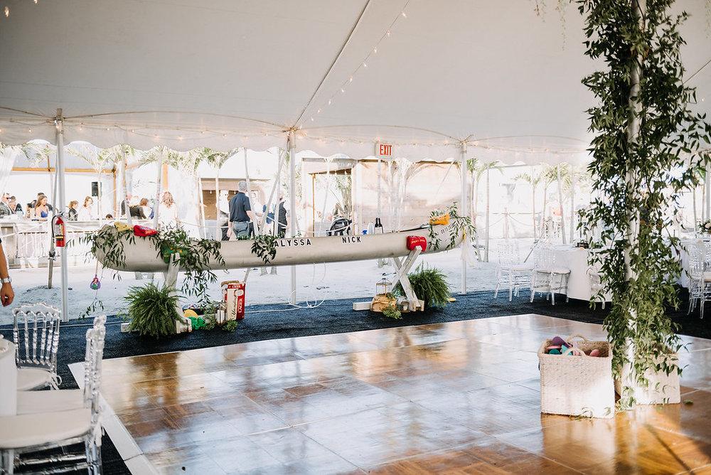 Wildwood Beach Wedding, Boat Bar, Greenery Wedding, LoveMeDo Photography