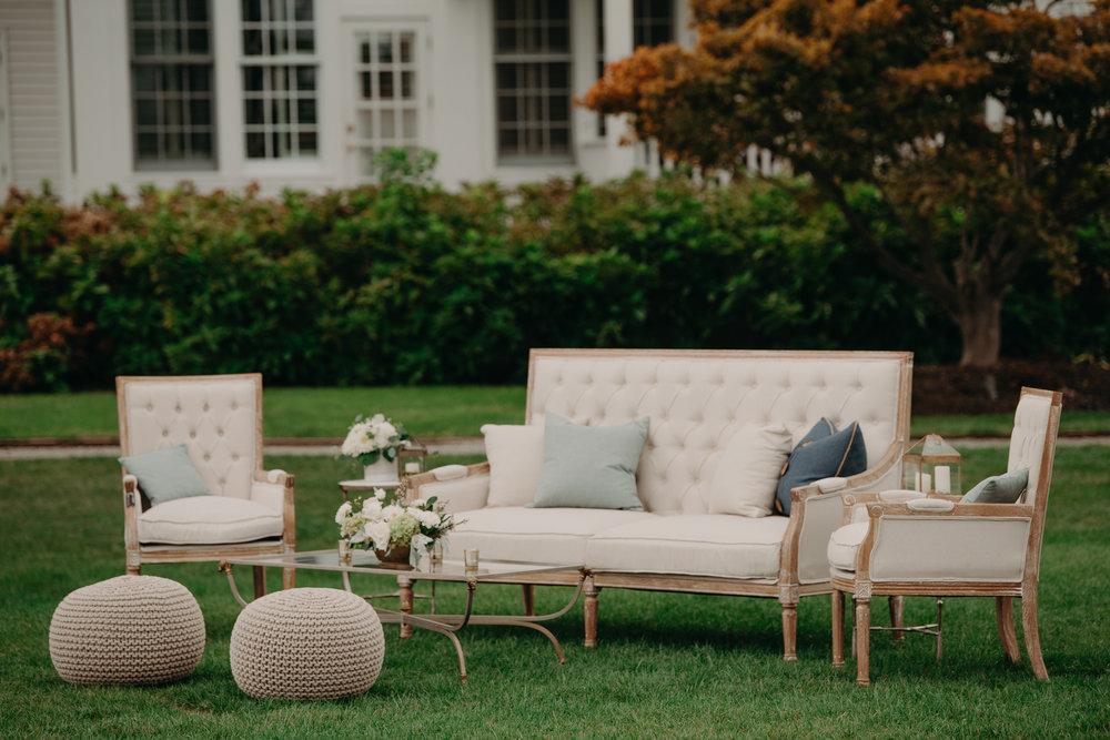 A Garden Party Florist, Maryland Wedding, Cocktail Area, Lounge, Wedding Lounge, Caroline Dutton Events, Tyler Boye Photography