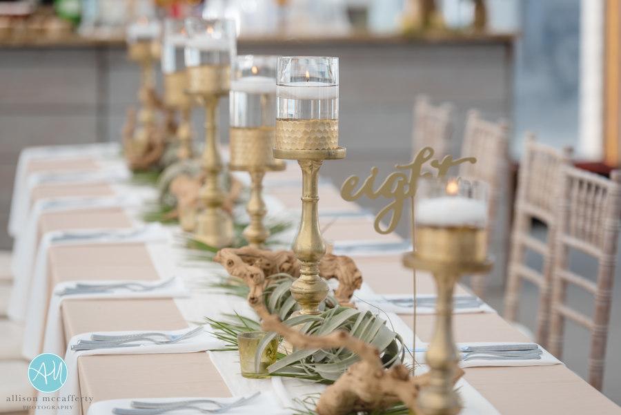 Beach Wedding, NJ Wedding, Centerpiece, Beach Bride, Tropical, Icona Diamond Beach, Icona Wedding, Table Numbers, Allison McCafferty Photography
