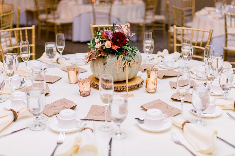 NJ Wedding, Eastlyn Golf Course, Fall Wedding, Fall Flowers, Pumpkin, Pumpkin Centerpiece, Grove Photography