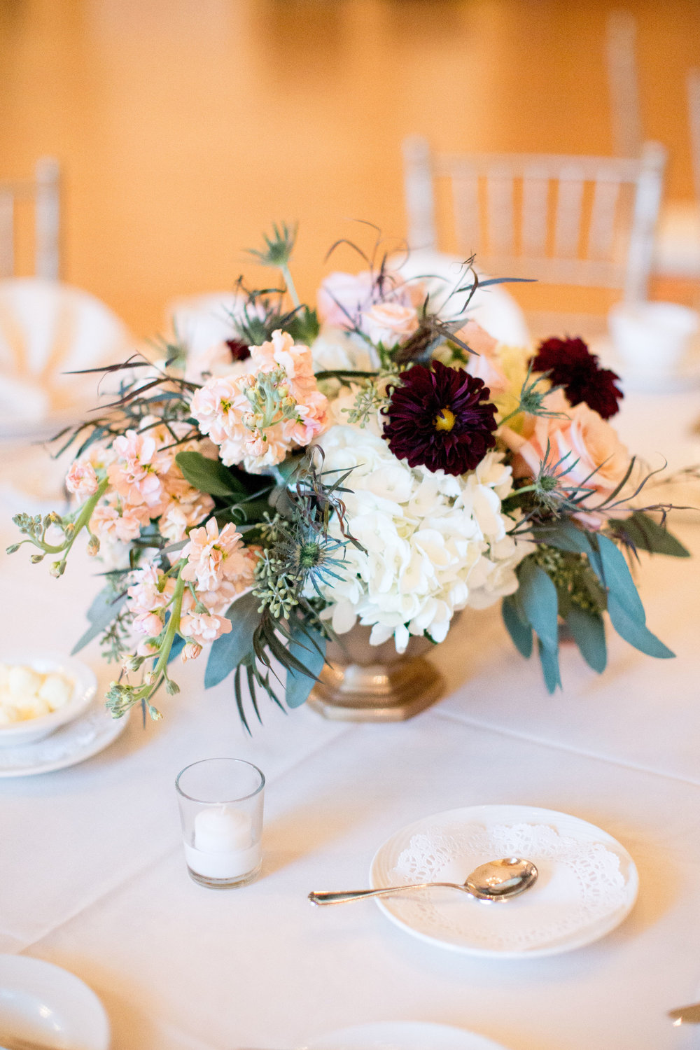 DuPont Country Club Wedding, Fall Wedding, Dahlia, Petal and Glass Photography